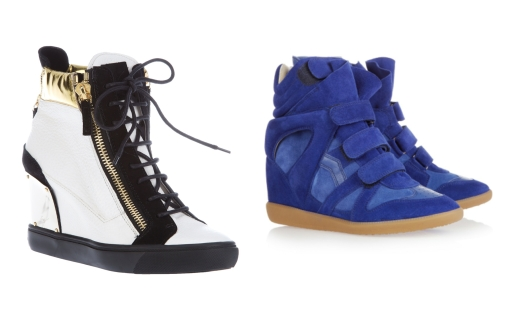 designer sneaker wedges
