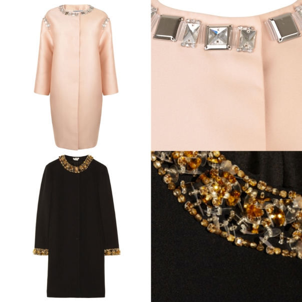 Prada and Miu Miu Embellished Coats